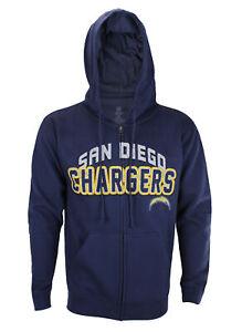 San Diego Chargers NFL Football Men's In The Pocket Zip Fleece Hoodie, Navy