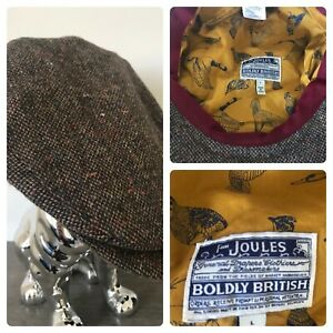 Joules Tweed wool flat cap size large hunting fishing races