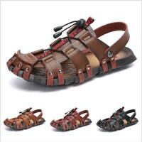 Mens Sandals Shoes Casual Sport Flats Beach Trail Close Toe Roman Hollow Comfort