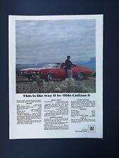 Vintage 1967 Oldsmobile Cutlass - Full Page Original Ad