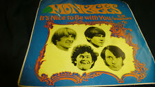 """THE MONKEES 7"""" Vinyl Record: 1960's It's Nice to Be with You / D.W. Washburn"""
