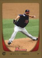 2011 Bowman Baseball Gold #73 Francisco Liriano Minnesota Twins