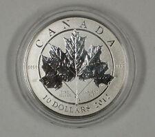 2012 $10 Canada 1/2 Troy Oz .9999 Fine Silver Maple