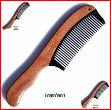 Durable swartizia wood ox horn fragrant close teeth collections gifts comb 19cm