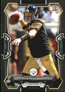 2015 Bowman Black Pittsburgh Steelers Football Card #V91 Ben Roethlisberger