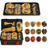 12Pcs KIT Gold Beyblade BURST Launcher Set Toys Box Kids Best Christmas Gift