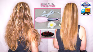 Electric Led Pink Brush Thermal Ceramic Cepillo Simply Hair Straightener
