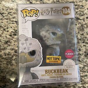 Funko Pop! Flocked Buckbeak #104 (Black Eyes) Hot Topic Exclusive Harry Potter