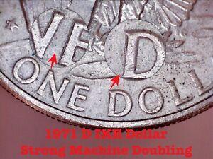 1971 D Eisenhower Ike Dollar  - Error Coin - Strong Machine Doubling