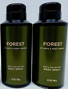 2 BATH & BODY WORKS FOREST BERGAMOT SAGE CEDARWOOD MEN'S COLLECTION BODY SPRAY