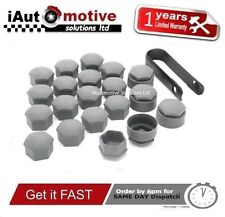 17mm Audi VW Seat Skoda Alloy Wheel Nut Caps + Locking Nut Bolt Covers 4F0601173