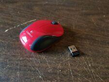 Logitech M187 Wireless Mini Mouse Red Kid Child Size