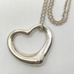 Tiffany & Co. Pendant Necklace  Open Heart Peretti Silver 925 1709328