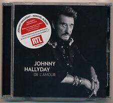 "JOHNNY HALLYDAY CD ""DE L'AMOUR"" - 10 TITRES - NEUF"