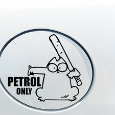 SIMONS CAT PETROL ONLY FUNNY CAR VAN LORRY JDM VINYL DECAL STICKER EURO FUEL CAP