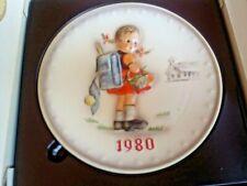 Goebel Annual Plate 1980 Hummel10th Edition School Girl #273 in Box ~ Free Ship