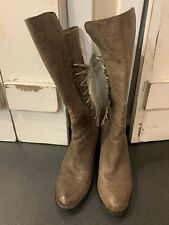 Antelope Women's Taupe Leather Back Lace Up Boots