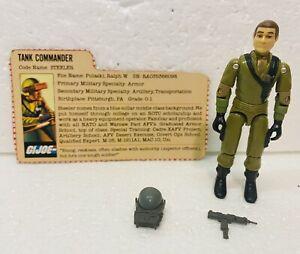 GI Joe ARAH 1983 Steeler Mobat Driver W/ Accessories & File Card. Tight Joints.