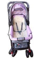 Natural 100% Sheepskin Baby Buggy Liner Stroller Pushchair Pram Lamb Skin white