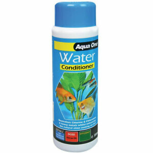 Aqua One Water Conditioner Aquarium Fish Tank Dechlorinator Tap Safe 100ml 600L