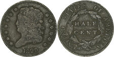 United States: 1/2 Cent copper 1829 - F
