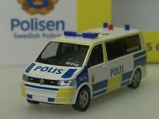 "Rietze VW t5 autobús polis ""insatsledare"", policía Suecia, lim. 300 - 1/87"