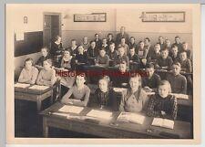 (F10865+) Orig. Foto Schulklasse im Klassenzimmer, Abgang 1938