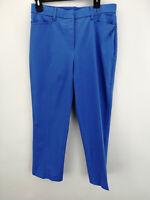 Isaac Mizrahi Live! Regular 24/7 Stretch Crop Pants French Blue R10 A263948
