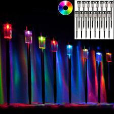 Erdspießleuchten Solar Gartenleuchten 8 Stk LED Solarleuchten mit Farbwechsel