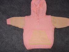 Bébé fille 2 pièces sans manches à capuche et pull 3-6 mois NEUF
