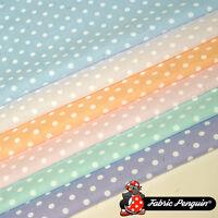 5mm Pastel Polka Dots Fabric Spots Polycotton Dotty
