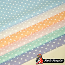 5mm Pastel Polka Dots Fabric Spots Polycotton Dotty