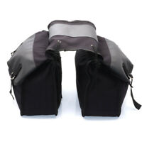 Motorcycle Saddle Bag Canvas Waterproof Panniers Luggage Back Pack For Honda