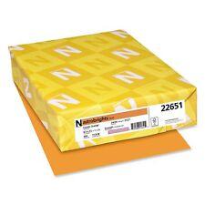 Wausau Neenah Astrobrights Colored Copy Paper 24 Lb Cosmic Orange 500 Ct