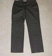 Ann Taylor LOFT Black & White Printed Chino Dress Pants Size 6 Cotton Blend