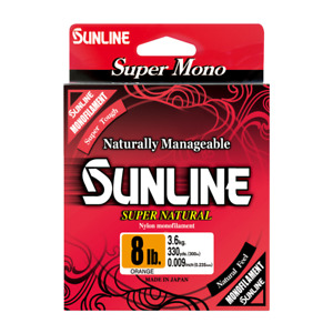 Sunline Monofilament (Super Natural) 330 YD Spool Fishing Line Any Color LB Test