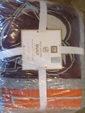 Pottery Barn Teen NHL Patchwork Hockey Full queen  quilt New