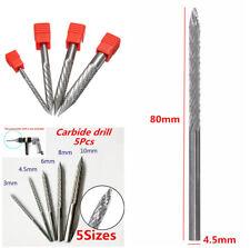 Carbon Steel Nail Drill Bit Flat Tire Repair Drill Kits 3mm/4.5mm/6mm/8mm/10mm