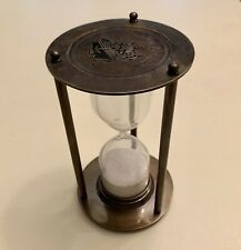 VTG Stanley London ROYAL NAVY Brass Hourglass Sand Timer Nautical Maritime
