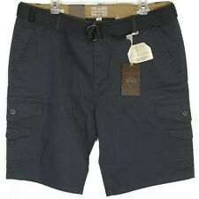 NWT Weatherproof Vintage Mens Comfort Stretch Utility Cargo Shorts Sz 40 Belted