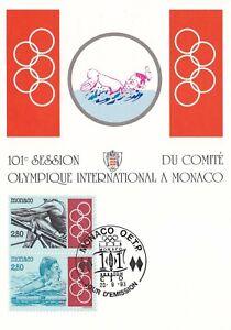 Carte postale postcard timbrée 1er Jour MONACO 1993 JEUX OLYMPIQUES NATATION