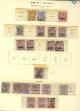 British  Guiana    nice page lot   mint and used       KL1217