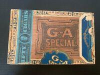 Antique 1913 G-A Special Wooden Cigar Box
