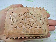 Antique Carved Stone Seal Je main Tiendrai House of Nassau-Orange Coat of Arms