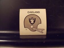 1977 NFL Football Helmet Sticker Decal Oakland Raiders Sunbeam Bread