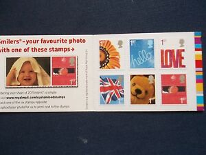 QA1 6 FIRST CLASS SELF ADHESIVE DEFINITIVE NVI STAMP BOOKLET SMILERS TEDDY BEAR