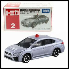 TOMICA #2 SUBARU WRX S4 UNMARKED POLICE CAR 1/62 TOMY 2017 MARCH NEW DIECAST CAR