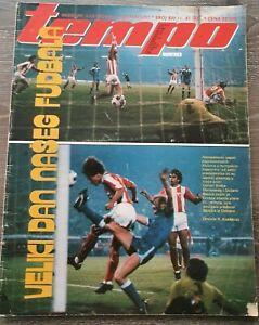 Magazine TEMPO 817 football FC Red Star vs Banik Ostrava report Yugoslavia 1981