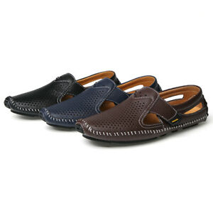 Mens Faux Leather Driving Moccasins Shoes Pumps Slip On Loafers Soft Comfy Beach