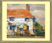 Jean Dryden Alexander (1911-1994) - Mid 20th Century Oil, Figures in a Garden